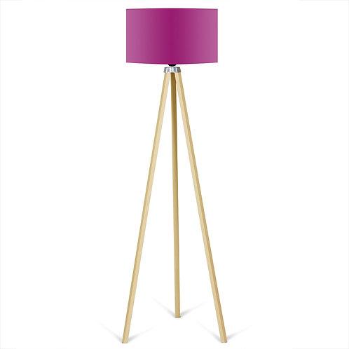 Kate Louise Floor Lamp  -  Purple / Natural