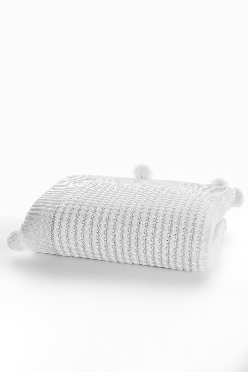 Tricot Blanket - 130x170 Cm-Dream White