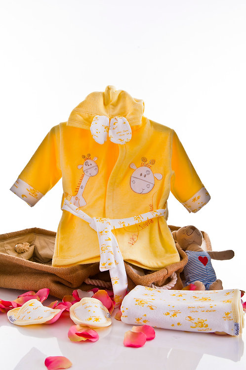 Bebessi Bathrobe Set 189-Yellow
