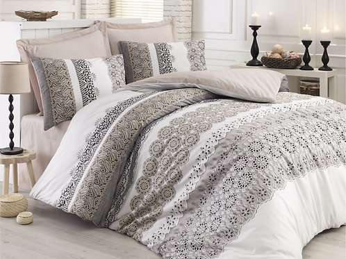 Clasy Cotton Duvet Sets - Dore Beige