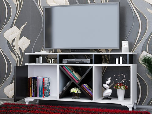 Ay Tv Stand Whıte-Black