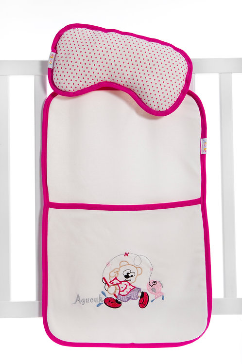 Agucuk Baby Fisher Cat Embroidered Changing Mat 11