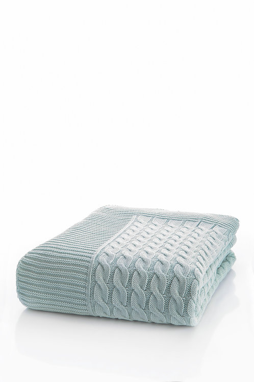 Tricot Blanket - 130x170 Cm-Marvel Ice Blue