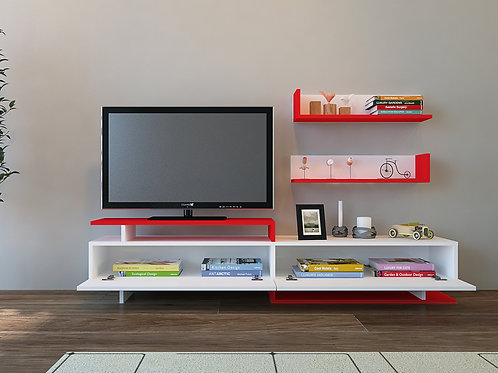 Ayaz Tv Stand Whıte-Red