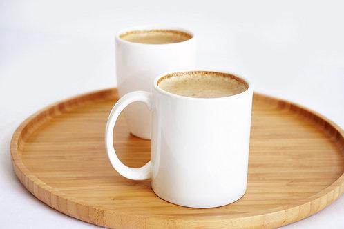 Bambum Cappuccino Round Tray