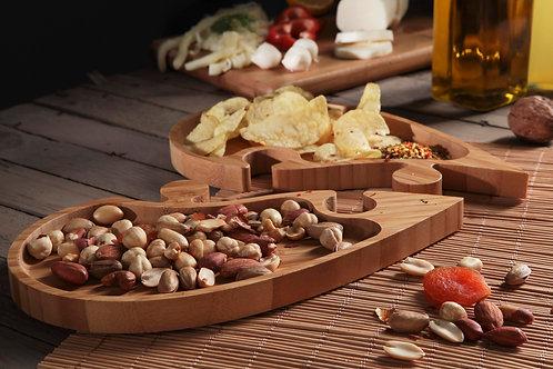 Bambum  puzzle heart serving tray - (B2557)