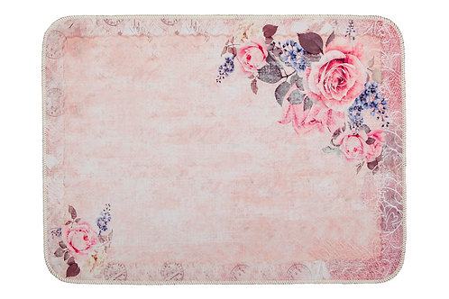 Digital Printed Mat 50x70 Cm - Vintage Rose