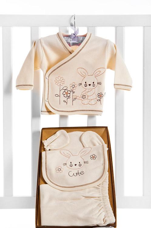 Bebecix Rabbit Embroidered Organic 5 Pcs Newborn s