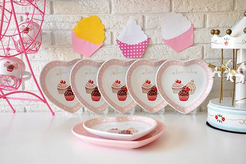 7 Pcs Cake Plate Set 551