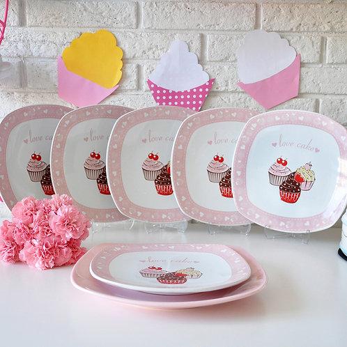 7 Pcs Cake Plate 551