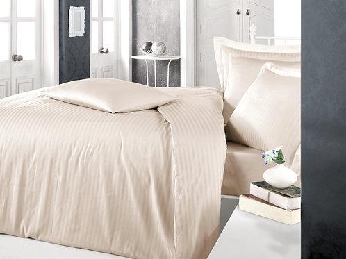 Clasy Cotton Duvet Sets - Striped Cappuccino