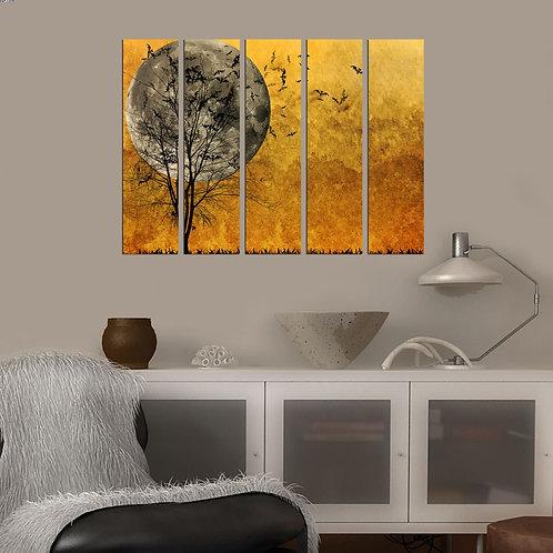 Dekorjinal 5 Pcs. Decorative Mdf Painting Bsrm015