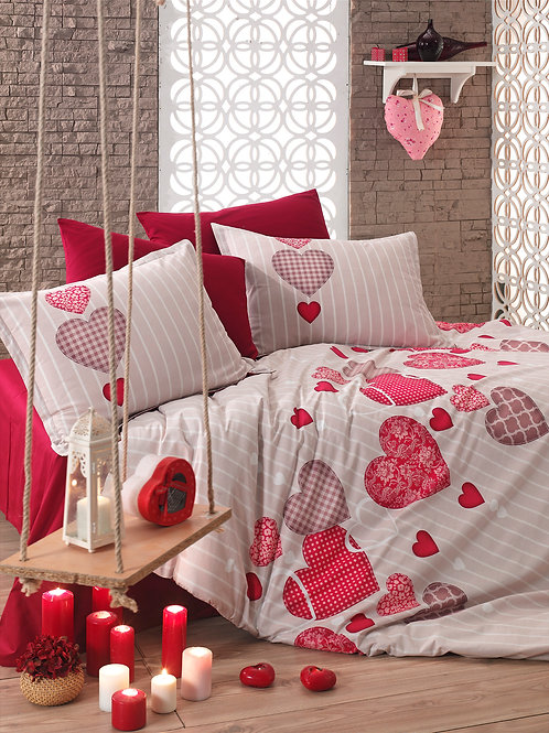 Cotton Duvet Sets-Heart V2