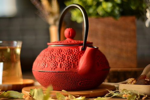 Taşev Linden - Papatya 800 ml Red Iron Teapot T2763