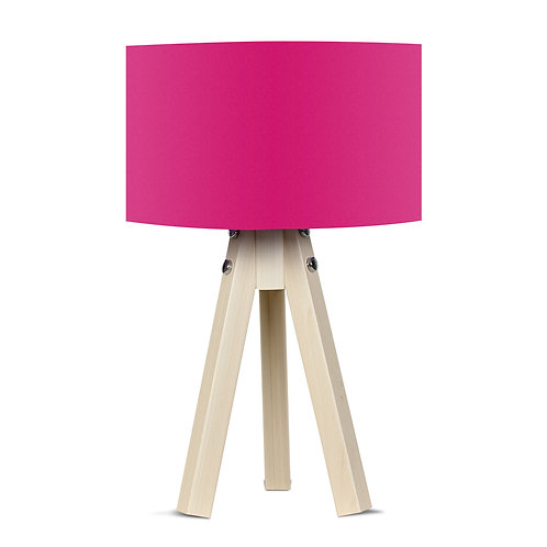 Royal Tripod Lampshade - Fucshia / Natural