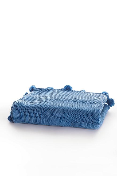 Tricot Blanket - 130x170 Cm-Stylish Blue