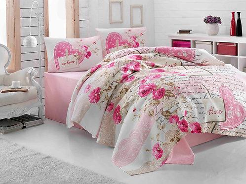 Cotton Duvet Sets-Nice Pink