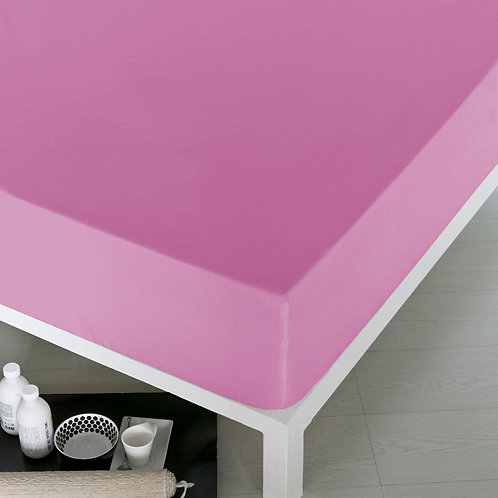Home De Bleu Rnfrc Fitted Sheet 90x200 - Pink