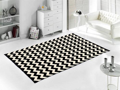 Home De Bleu - Zigzag Rug 80x150 Cm - Black