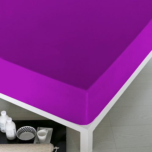 Home De Bleu Rnfrc Fitted Sheet 160x200 - Violet