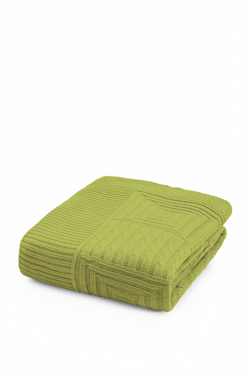 Tricot Blanket -130x170 Cm-Natural Pistachio Green