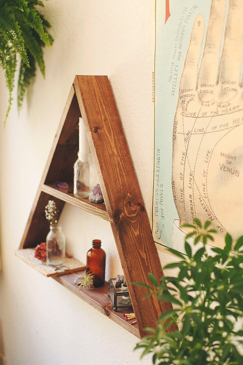 Dekorjinal Massive Triangle Wall Shelf Ucgen012