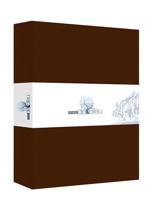 Home de Blue Fitted Sheet 100x200 Cm - Brown