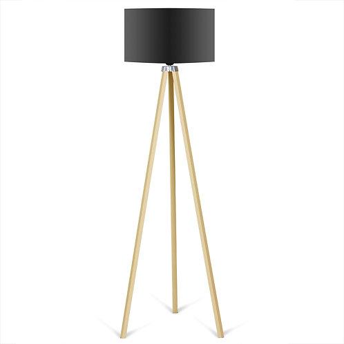 Kate Louise Floor Lamp  -  Black / Natural