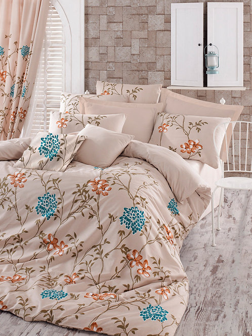 Homedebleu Ranforce Duvet Cover Set 240x220 Cm