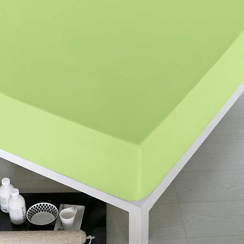 Home De Bleu Rnfrc Fitted Sheet 160x200 -Light Gr