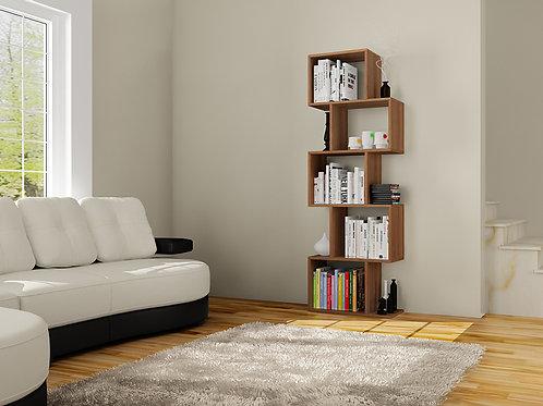 Bestline Meriç Bookcase - Walnut