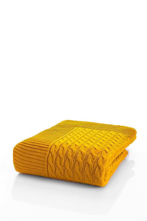 Tricot Blanket - 130x170 Cm-Marvel Yellow