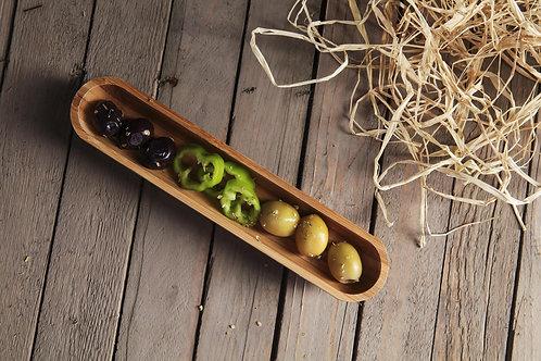 Bambum Luiz 22 Cm Olive Plate - (B2533)