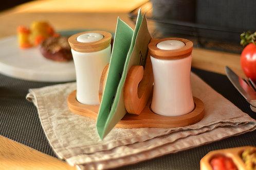 Bambum Chava - napkin salt shaker set