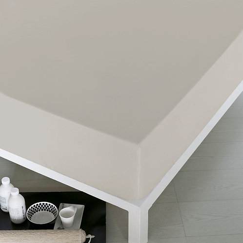 Home De Bleu Rnfrc Fitted Sheet 140x200 - Ecru