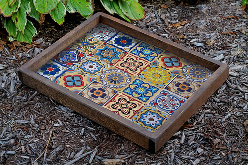 Dekorjinal Hand Made Solid Wooden Digital Printing Tray
