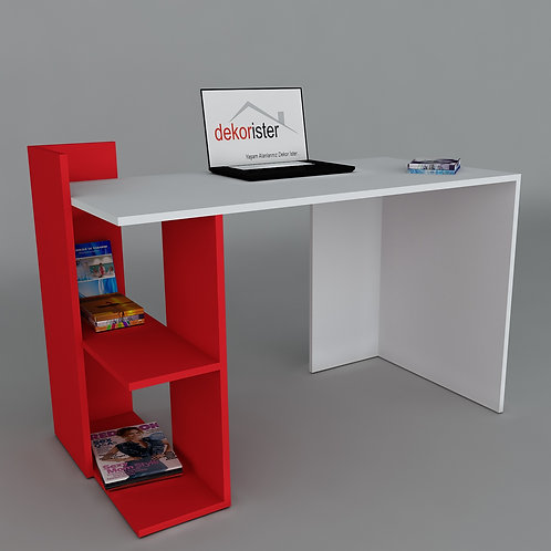Arrival Working Table White/Red