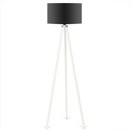 Kate Louise Floor Lamp  -  Black / White