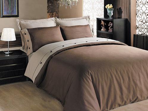 Cotton Box Fashion Satin Duvet Cover 135x200 Brown