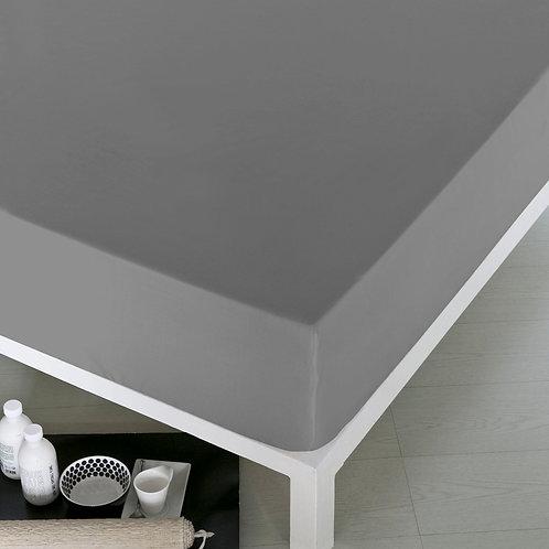 Home de Blue Fitted Sheet 160x200 Cm-(Pak)(2 Pcs)-