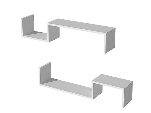 LİATRİS Wall Shelf 2 Pcs - White - LTDR.B.18.01