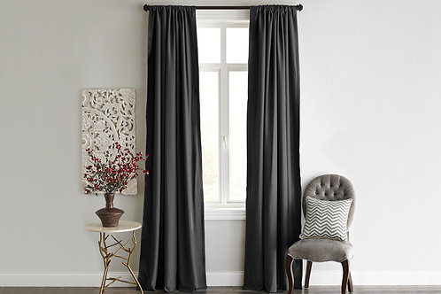 Home De Bleu Curtain 140x240 Cm (2 Pcs) - Dark Gre