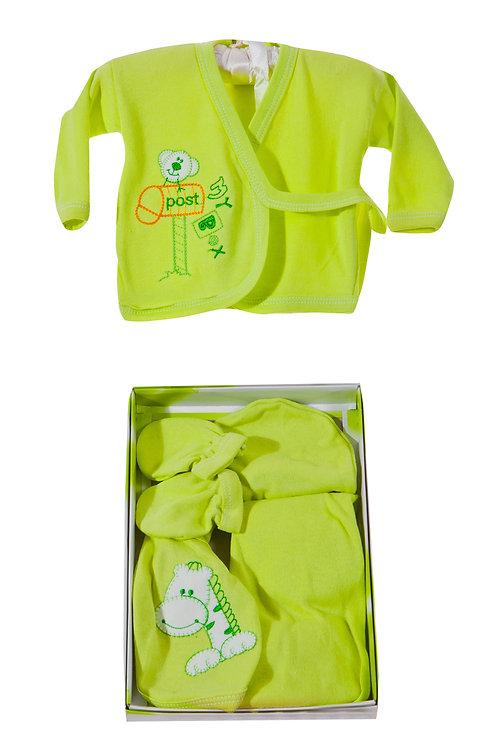 Burtaç Baby 5 Pcs. Newborn Baby Set 1103-Green