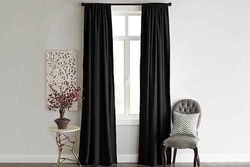 Home De Bleu Curtain 140x240 Cm (1 Pcs) - Black