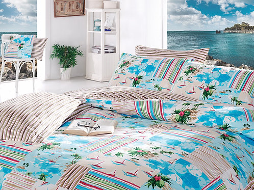 Clasy Cotton Duvet Sets - Summer Turquoise