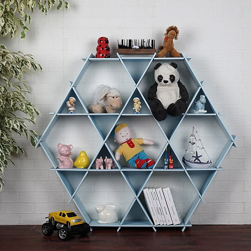 Dekorjinal Solid Wooden Wall Shelf