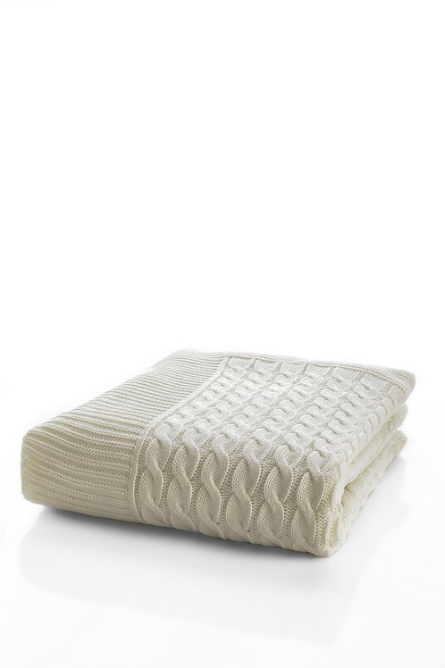 Tricot Blanket - 130x170 Cm-Marvel Cream