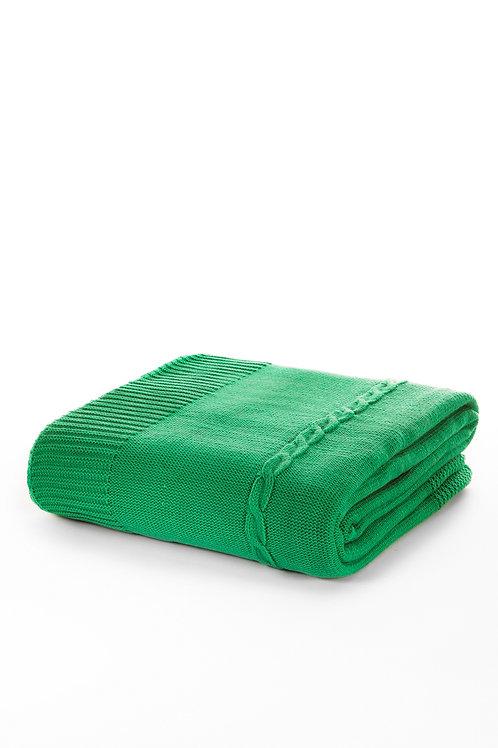 Tricot Blanket - 130x170 Cm-Fancy Green