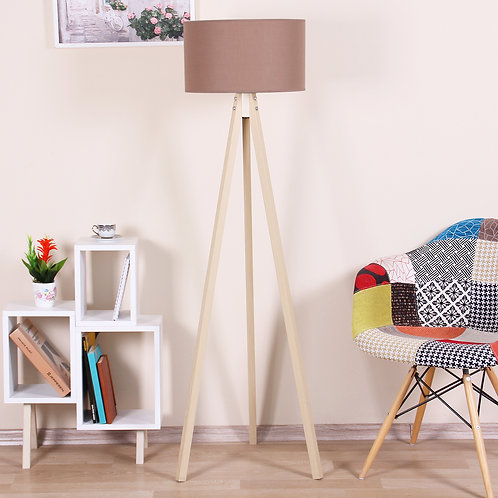 Kate Louise Floor Lamp-Celina  - Lt Brown/ Natural
