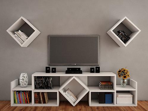 Leyzi Tv Unit - White